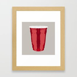 Clarity Cup Red (Big) Framed Art Print