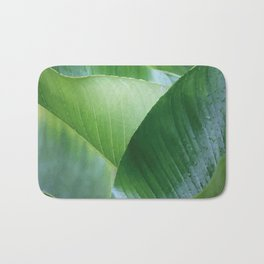 Big Banana Leaves green Bath Mat
