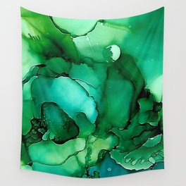 Into the Depths of Sea Green Mysteries Wall Tapestry