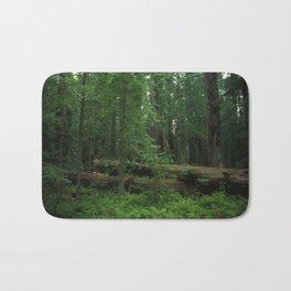 Fallen Tree in The Dense Forest Bath Mat