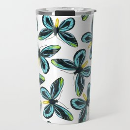 Queen Alexandra' s birdwing butterfly pattern design Travel Mug
