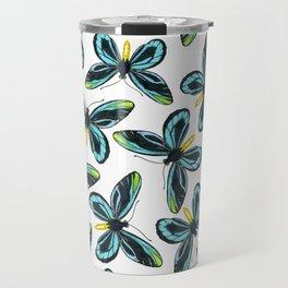 Queen Alexandra' s birdwing butterfly pattern design Travel Mug