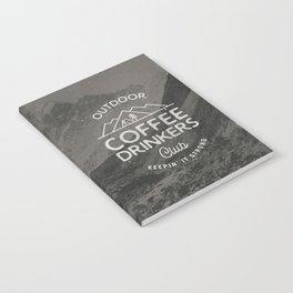 Outdoor Coffee Drinkers Club Notebook