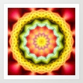 Prismatic Eye Mandala Art Print