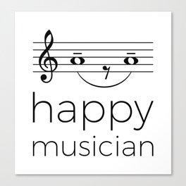 Happy musician (light colors) Canvas Print