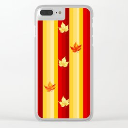Autumn Striped Pattern Clear iPhone Case