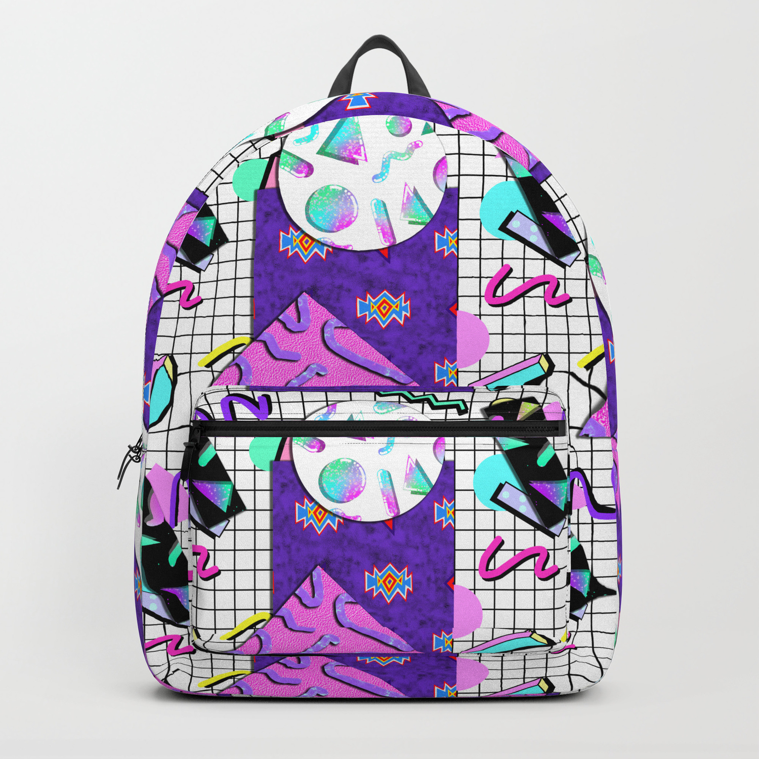 Trapper Keeper 80s Crazy Grid Design Backpack by melisssne