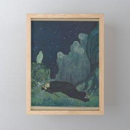 Edmund Dulac - The Dreamer of Dreams (1915) - A Circle of Mist Settled Around Them Framed Mini Art Print