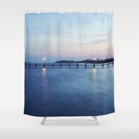 florida Shower Curtains featuring Florida Sunset by Kameron Elisabeth