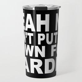 NO CARDIO. 80s  Travel Mug