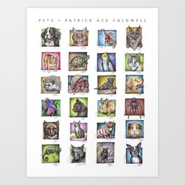 Pet Compilation Art Print