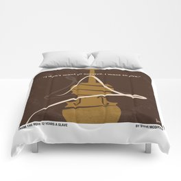 No268 My 12 years a slave minimal movie poster Comforters