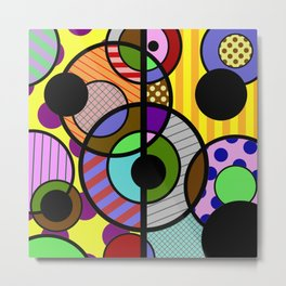 Patterned Retro - Geometric, Abstract Artwork Metal Print