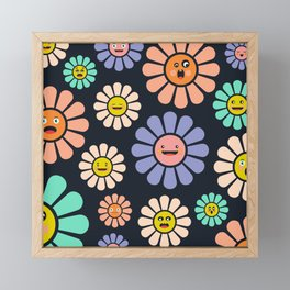 Funny Flowers Framed Mini Art Print