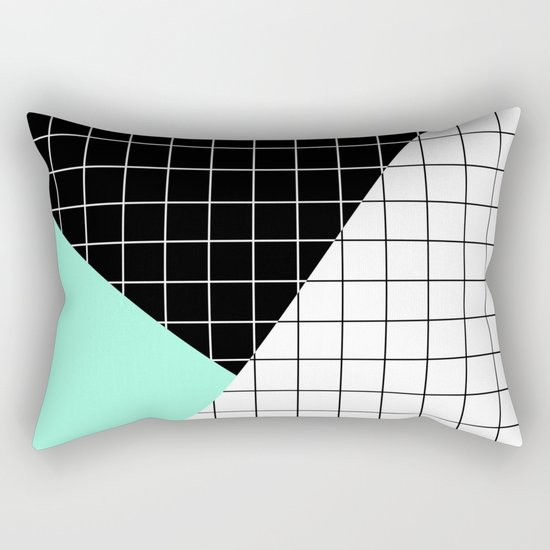 Minimal Geometry II Rectangular Pillow