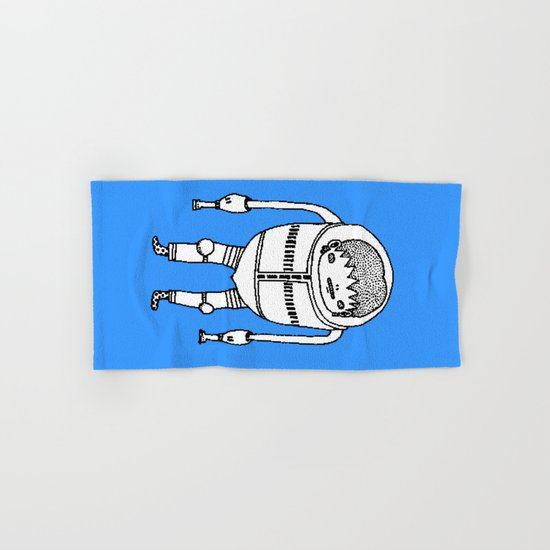 Cyborg Robot Zombie-boy ( HQ pixel ) Hand & Bath Towel