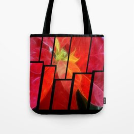 Mottled Red Poinsettia 2 Tinted 2 Tote Bag