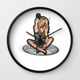 Kylie Minogue Golden Guitar Wall Clock