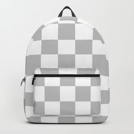 Checkered (Gray & White Pattern) Backpack