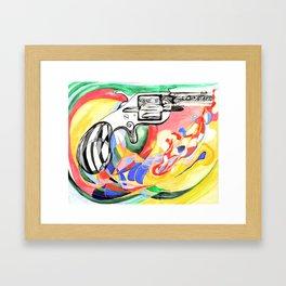 Lonely Gun Framed Art Print