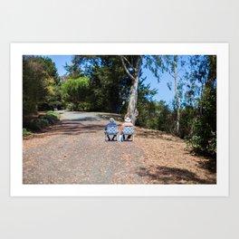 Couple on the way up Art Print