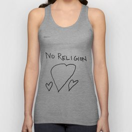 No Religion_ Thshirt for atheists Unisex Tank Top