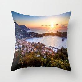 Mont Boron Sunrise Throw Pillow