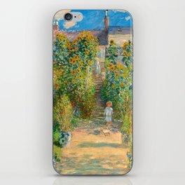 Claude Monet, The Artist's Garden at Vétheuil, 1880 iPhone Skin