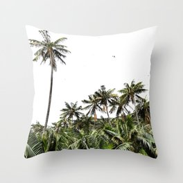 Palm Trees of Lord Howe Island Throw Pillow