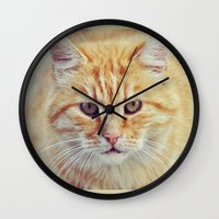 ginger Wall Clocks featuring Ginger by LindaMarieAnson