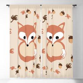 Fox in autumn Blackout Curtain