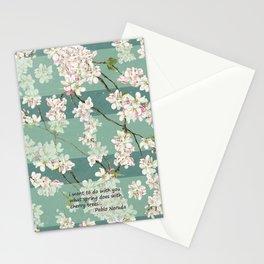 quiero hacer contigo lo que la primavera hace con los cerezos Stationery Cards