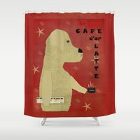 lab Shower Curtains featuring Le Lab d'or by bri.buckley
