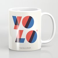yolo Mugs featuring Yolo by Wharton