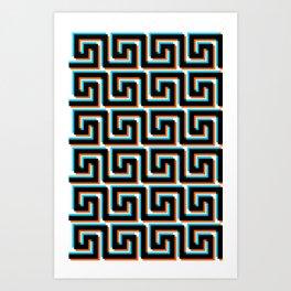 Pixel Wave no.3 Art Print