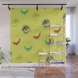 Eye lashes Wall Mural