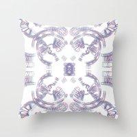 2001 Throw Pillows featuring 2001 Moonbase Clavius by Jan Wurtmann