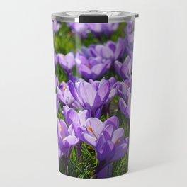 Purple Crocuses Travel Mug