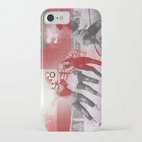 roller derby iPhone & iPod Cases featuring Punchtuation Roller Derby by Vin Zzep