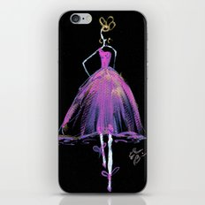 Hot Pink Fashion Illustration iPhone & iPod Skin