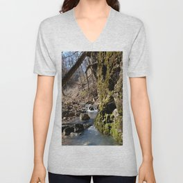 Alone in Secret Hollow with the Caves, Cascades, and Critters, No. 7 of 20 Unisex V-Neck
