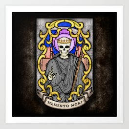 Necromancer Stained Glass Emblem Art Print