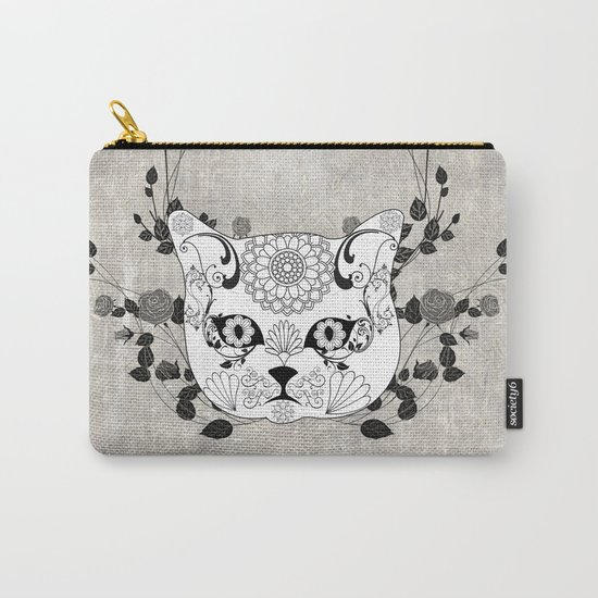 Wonderful sugar cat skull Carry-All Pouch
