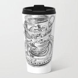 Stacked Tea Cups Metal Travel Mug