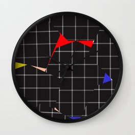 grid pieces Wall Clock