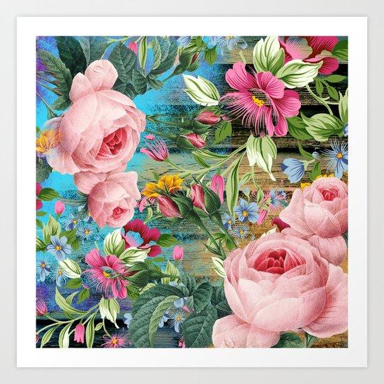 Vintage Flowers #9 Art Print