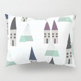 Village on winter Pillow Sham