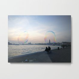 Lovers in a Bubble Metal Print