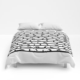 Funny cats Comforters