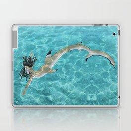 Blacktip Reef Shark Man Laptop & iPad Skin